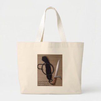 a person has to be wholehearted in order to gain s large tote bag