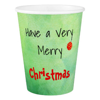 A  Personalised  Christmas paper cup