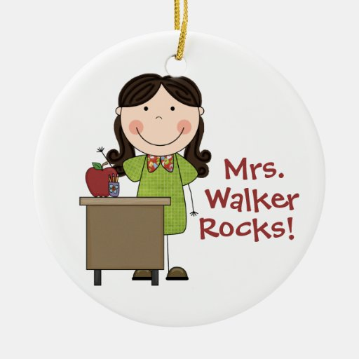 A personnalisé mon ornement de Noël de roches de p