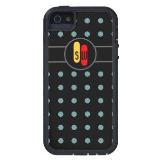 à petits pois et vos initiales coque iPhone 5 Case-Mate