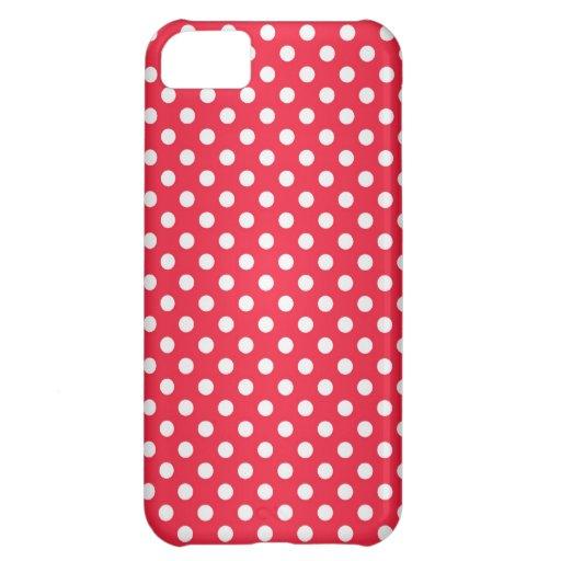 À petits pois rouge et blanc coques pour iPhone 5C