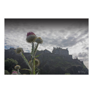 A photo poster print of Edinburgh Castle.