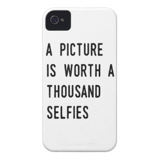 A Picture is Worth a Thousand Selfies iPhone 4 Case-Mate Cases