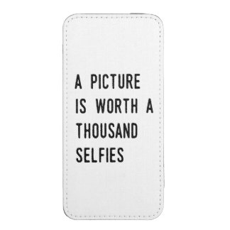 A Picture is Worth a Thousand Selfies iPhone Pouch