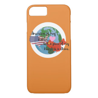 A Piece of My Heart is in China Phone Case Orange
