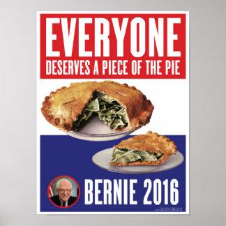A Piece of the Pie Bernie 2016 Presidential Poster