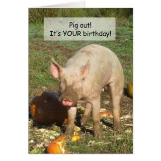 A Pig Birthday Card! Card