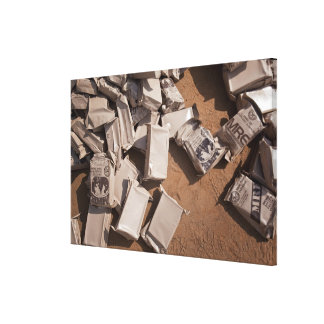 A pile of Meals Ready to Eat Gallery Wrapped Canvas