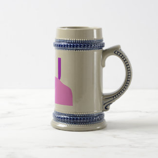 A Pink Fruit Beer Stein