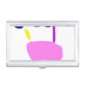 A Pink Fruit Business Card Holder