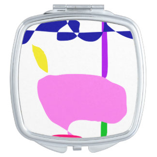 A Pink Fruit Compact Mirrors