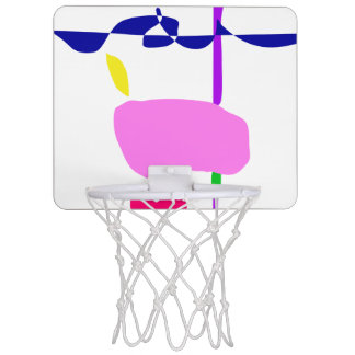 A Pink Fruit Mini Basketball Hoop