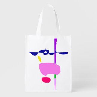 A Pink Fruit Reusable Grocery Bag