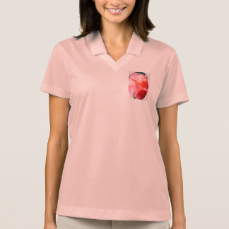 A Pink Rose Polo Shirt