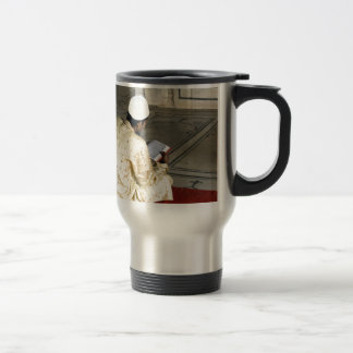 A pious devotee reading the Quran Stainless Steel Travel Mug