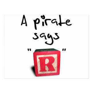 A Pirate Says R Postcards