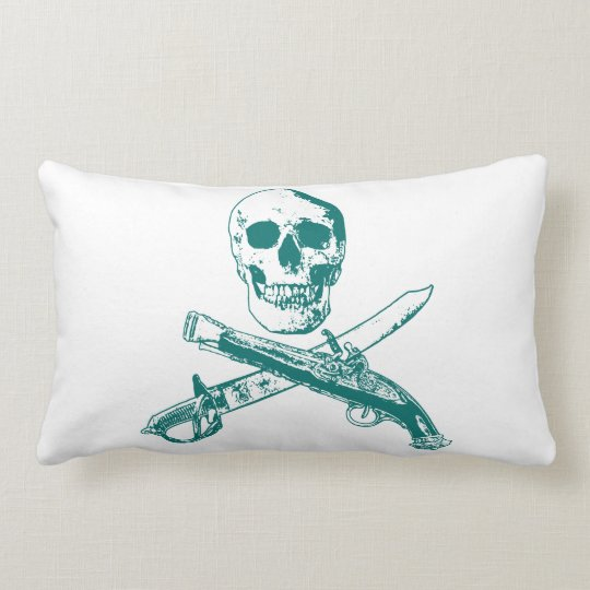 A Pirates Life doublesidedskullpillow_3 Lumbar Pillow