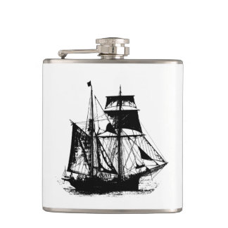 A Pirates Life ship_1 Hip Flask