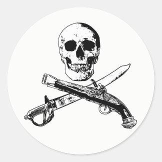 A Pirates Life skullsticker_2 Classic Round Sticker