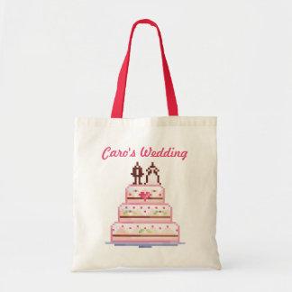 a pixel wedding ♥ tote bag