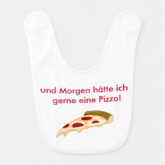 A pizza bibs