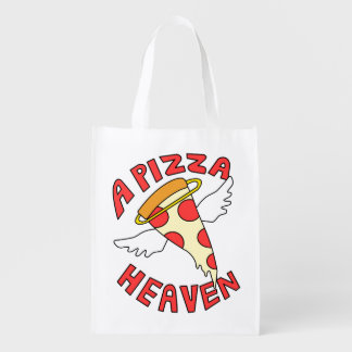 A Pizza Heaven Grocery Bag