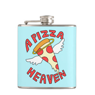 A Pizza Heaven Hip Flask