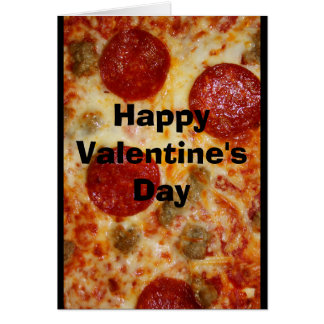 A Pizza My Heart Belongs To You Valentine Card