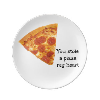 A Pizza My Heart Plate