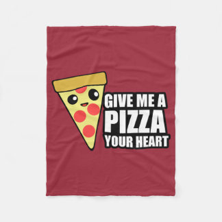 A Pizza Your Heart Fleece Blanket