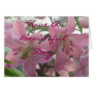 A Pk Lily card-customize any occasion Card