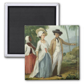 A Planter and his Wife, Attended by a Servant, c.1 Fridge Magnets