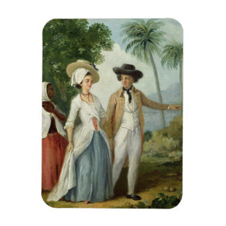 A Planter and his Wife, Attended by a Servant, c.1 Rectangular Photo Magnet