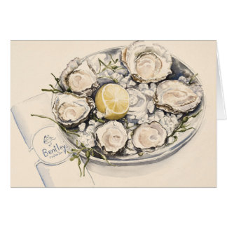 A Plate of Oysters 2012 Card
