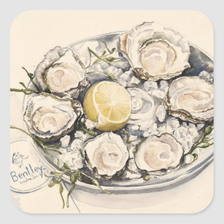 A Plate of Oysters 2012 Square Sticker