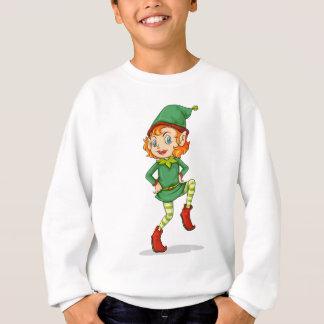 A playful Santa elf Sweatshirt