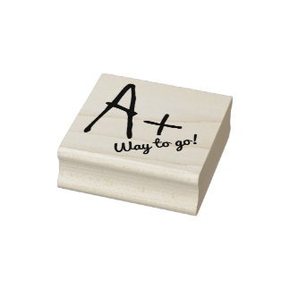 A Plus Comment Teachers Custom Rubber Stamp