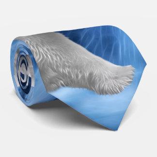 A polar Bear at the frozen waterfall Tie