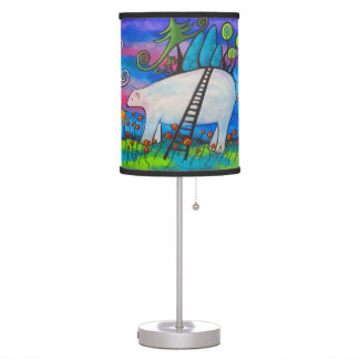 A Polar Bear Welcome Original Art Lamp