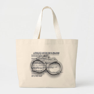A POLICE OFFICER'S PRAYER LARGE TOTE BAG
