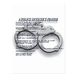 A POLICE OFFICER'S PRAYER POSTCARD
