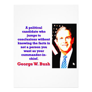 A Political Candidate Who Jumps - G W Bush Letterhead