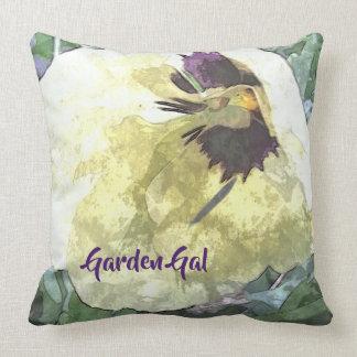 A Pop of Pansy Garden Gal Throw Pillow