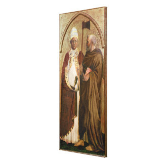 A Pope  and St. Matthias, c.1428-29 Canvas Print