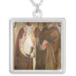 A Pope  and St. Matthias, c.1428-29 Silver Plated Necklace
