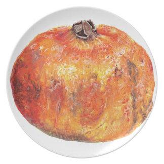 A popegranite dinner plate
