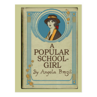 A Popular Schoolgirl Book Cover Post Card