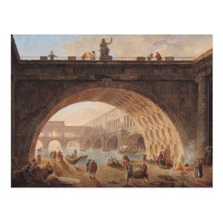 A Port, c.1760 Postcard