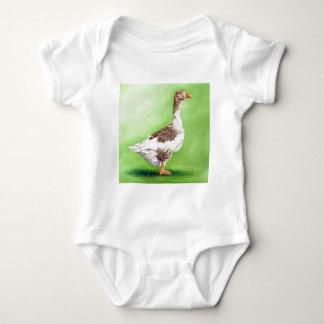 A Portrait of a Goose Baby Bodysuit