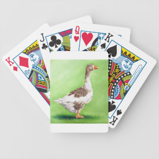 A Portrait of a Goose Bicycle Playing Cards